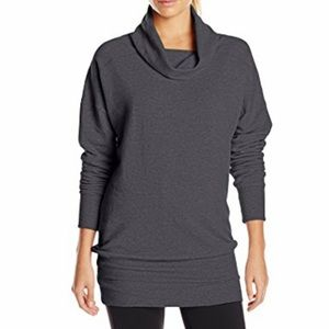 Lucy fleece lined pullover charcoal gray sweater